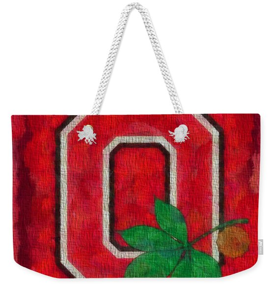 Ohio State Buckeyes On Canvas Weekender Tote Bag