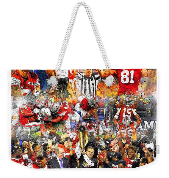 Ohio State National Champions 2015 Weekender Tote Bag