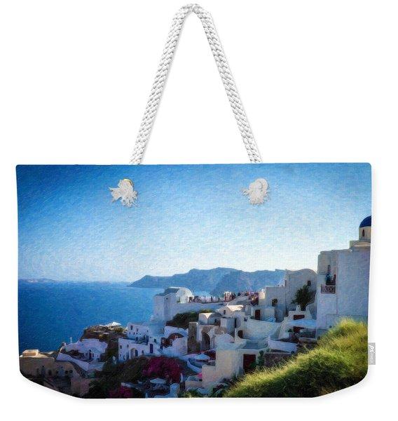 Oia Santorini Grk4332 Weekender Tote Bag