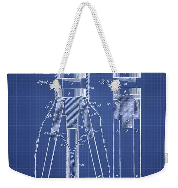Oil Drill Patent From 1902 - Blueprint Weekender Tote Bag