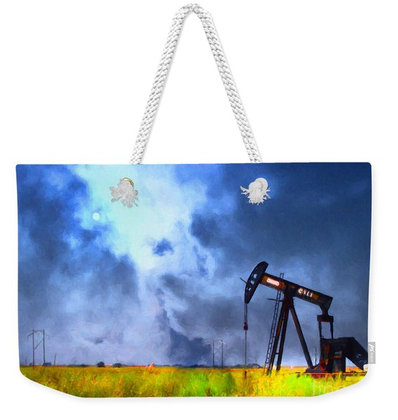 Oil Pump Field Weekender Tote Bag