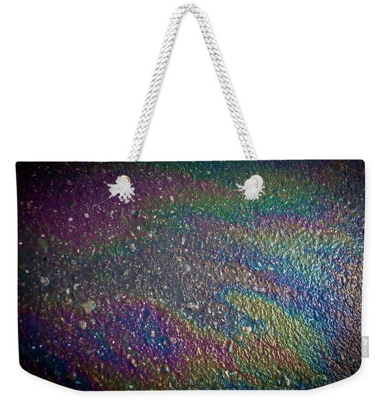 Oil Rainbow Weekender Tote Bag