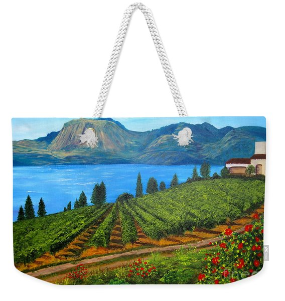 Okanagan Vineyard Weekender Tote Bag