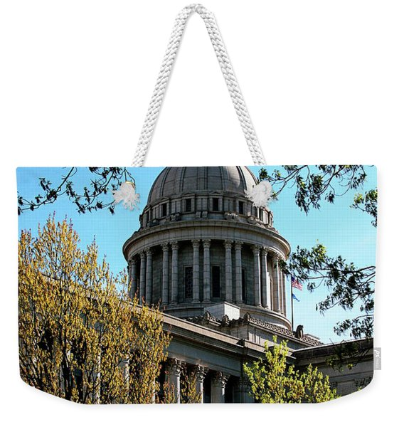 Oklahoma City Capitol In The Spring Weekender Tote Bag