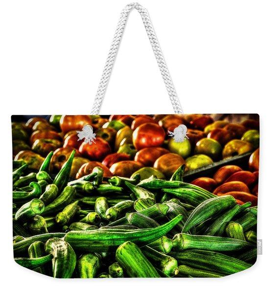 Okra And Tomatoes Weekender Tote Bag