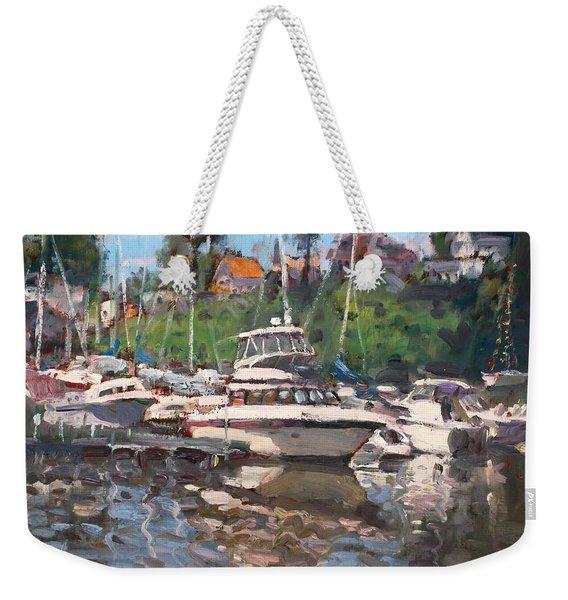 Olcott Yacht Club Weekender Tote Bag