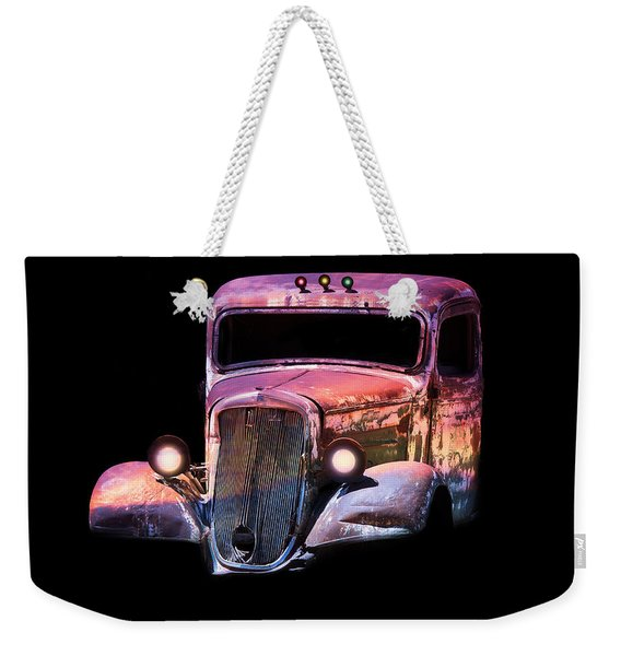 Old Antique Classic Car Weekender Tote Bag