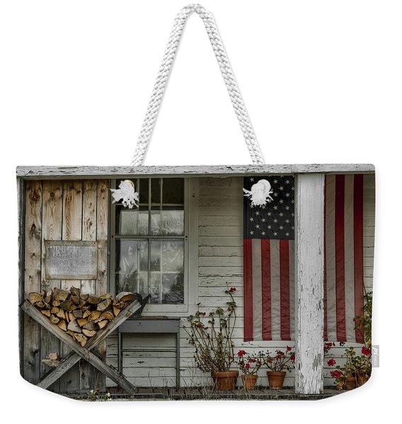 Old Apple Orchard Porch Weekender Tote Bag