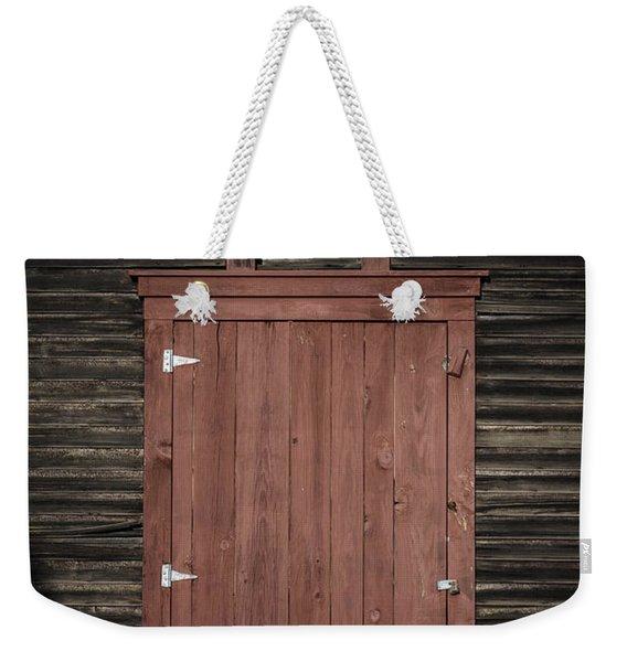 Old Barn Door Weekender Tote Bag