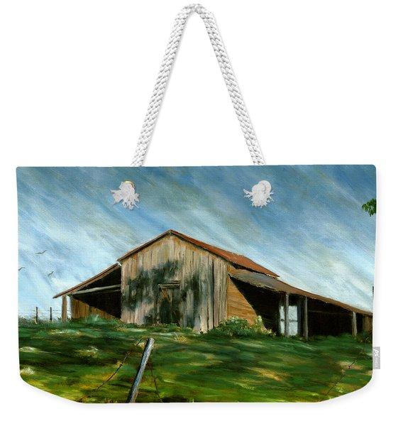 Old Barn Landscape Art Pleasant Hill Louisiana  Weekender Tote Bag