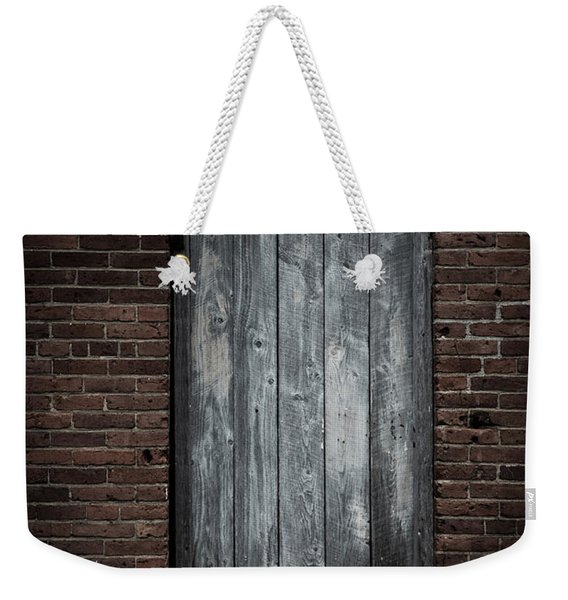 Old Blacksmith Shop Door Weekender Tote Bag