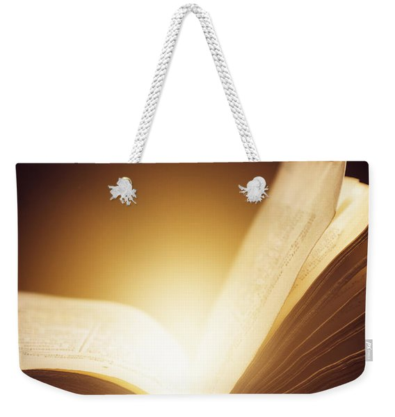 Old Book Weekender Tote Bag