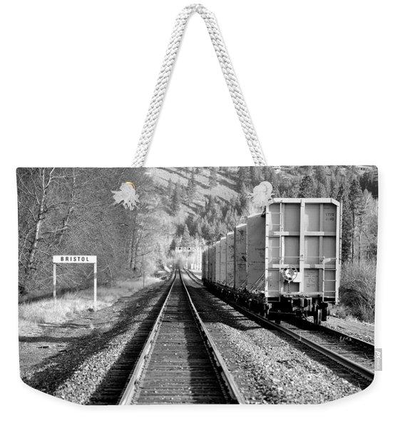 Old Bristol Rail In Ellensburg Weekender Tote Bag