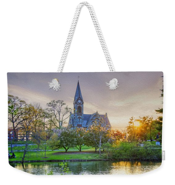 Old Chapel At Sunset Weekender Tote Bag