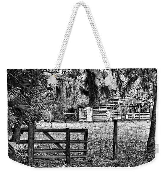 Old Chisolm Island Barn Weekender Tote Bag