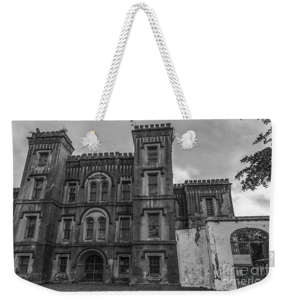 Old City Jail In Black And White Weekender Tote Bag