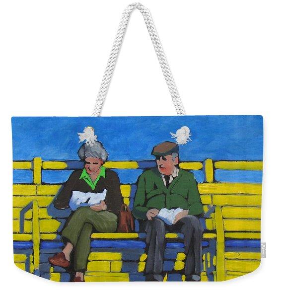 Old Couple Weekender Tote Bag