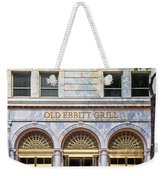Weekender Tote Bag featuring the photograph Old Ebbitt Grill by Jemmy Archer