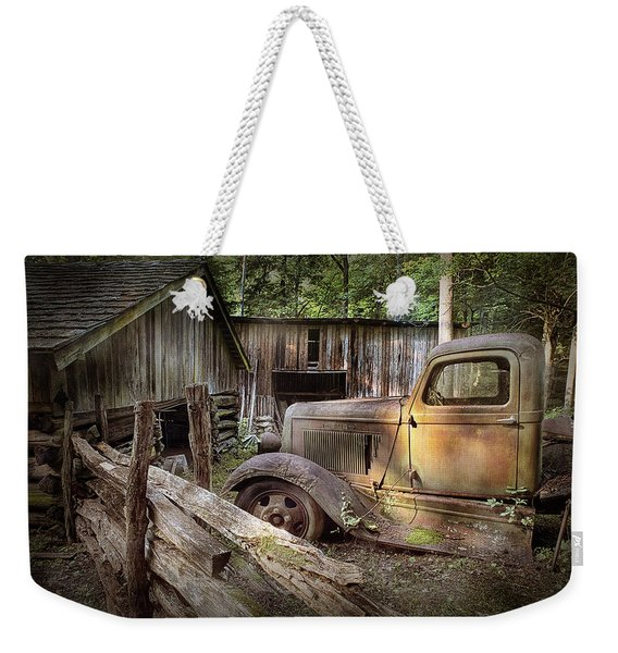 Old Farm Pickup Truck Weekender Tote Bag