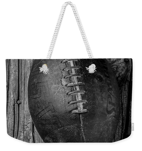 Old Football Weekender Tote Bag