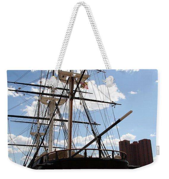 Old Glory - Uss Constellation Weekender Tote Bag