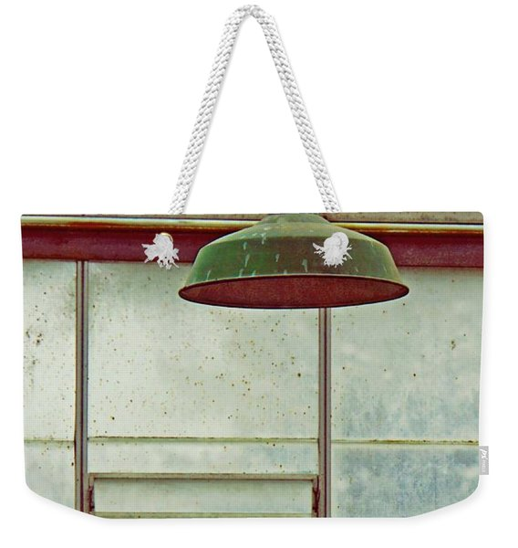 Weekender Tote Bag featuring the photograph Old Green Lamp by Patricia Strand