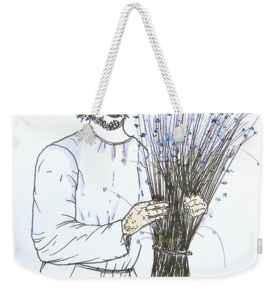 Old Man And Flax Weekender Tote Bag