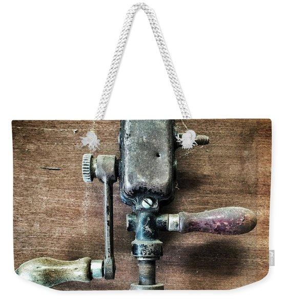 Old Manual Drill Weekender Tote Bag