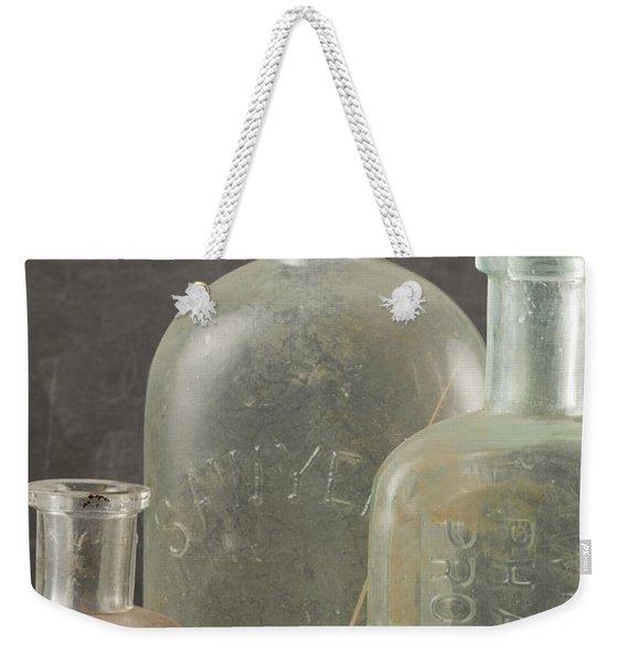 Old Pharmacy Bottle Weekender Tote Bag