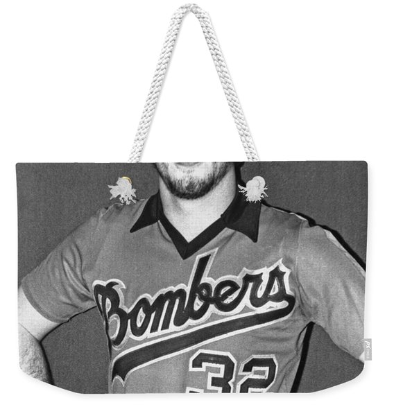Old Publicity Photo Of Jim Fitzpatrick Of The San Francisco Bay Bombers Weekender Tote Bag