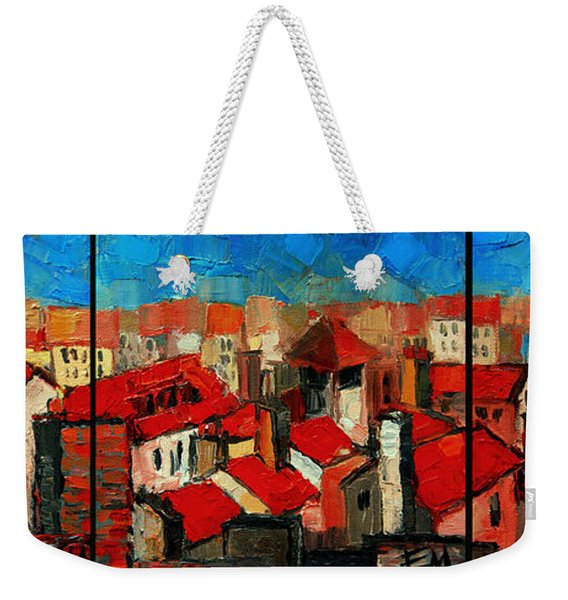 Old Roofs Of Lyon Weekender Tote Bag