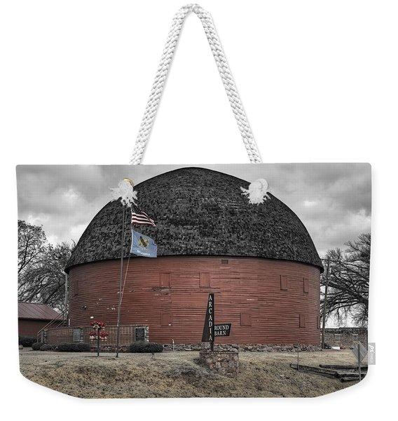 Old Round Barn Weekender Tote Bag