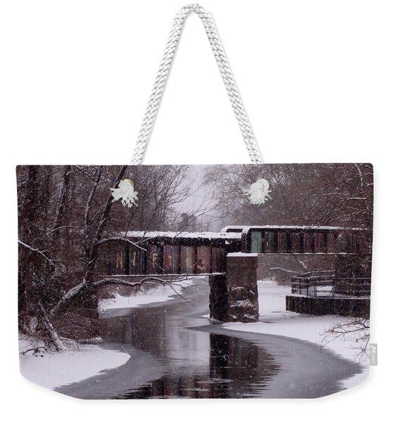 The Nifti Railroad Bridge Weekender Tote Bag