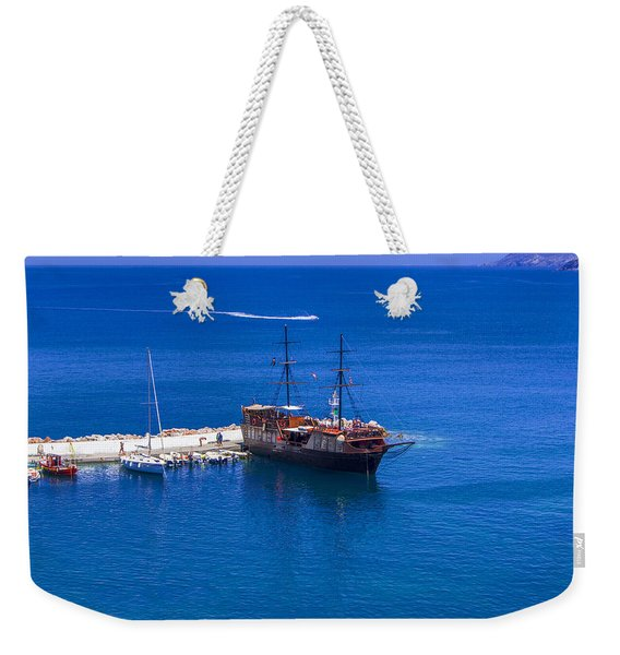 Old Sailing Ship In Bali Weekender Tote Bag