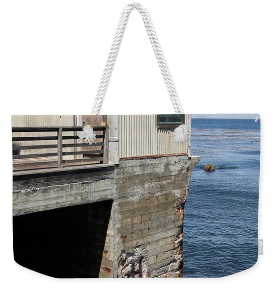 Old Shack Overlooking The Monterey Bay In Monterey Cannery Row California 5d25062 Weekender Tote Bag