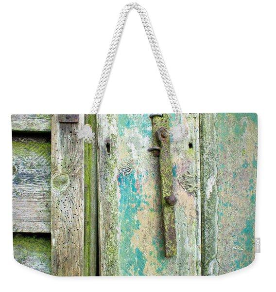 Old Shed Door Weekender Tote Bag