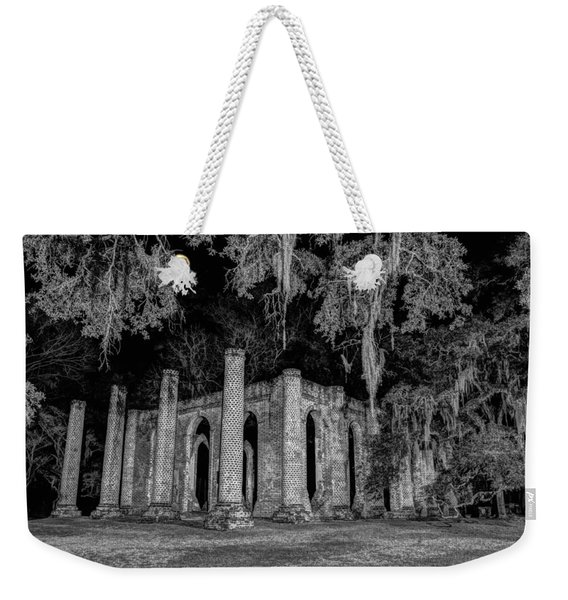 Old Sheldon Church At Night Weekender Tote Bag