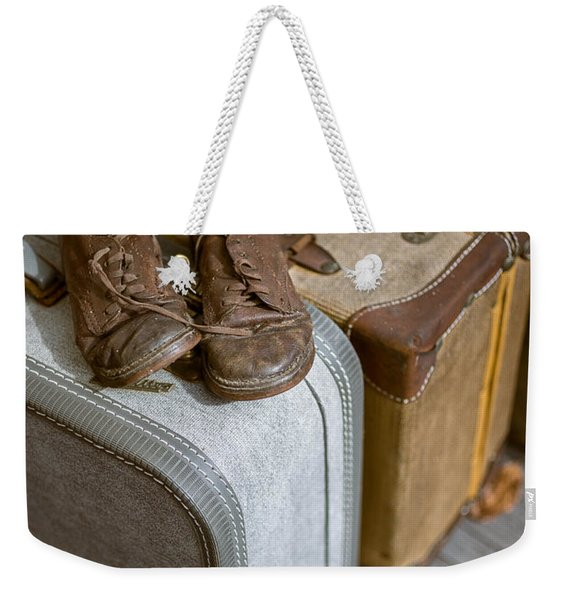 Old Shoes And Packed Bags Weekender Tote Bag