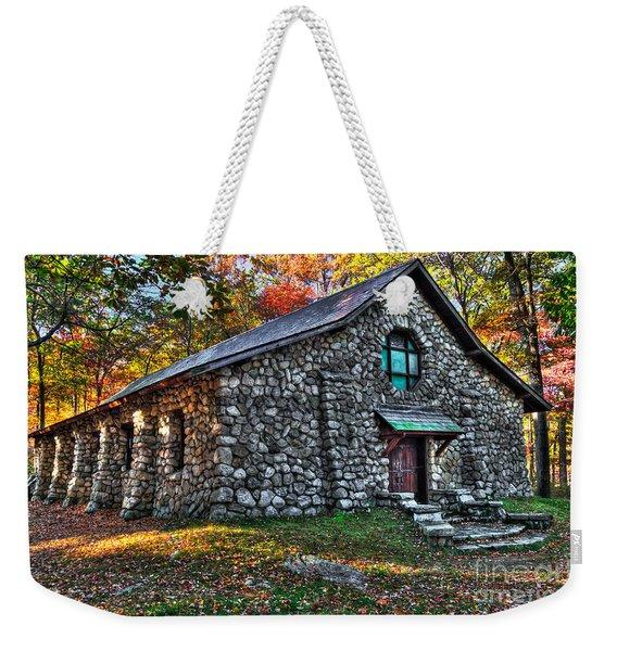 Old Stone Lodge Weekender Tote Bag
