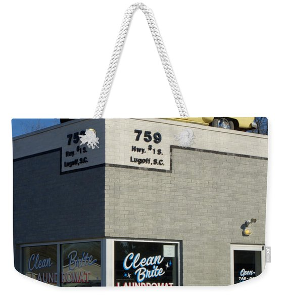 Old Studebaker Building Weekender Tote Bag