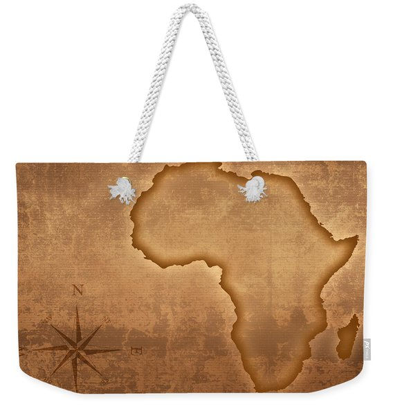 Old Style Africa Map Weekender Tote Bag