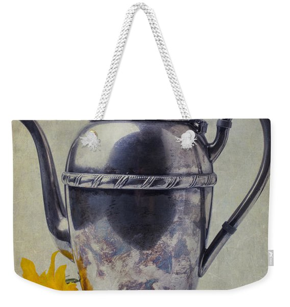 Old Teapot With Sunflower Weekender Tote Bag