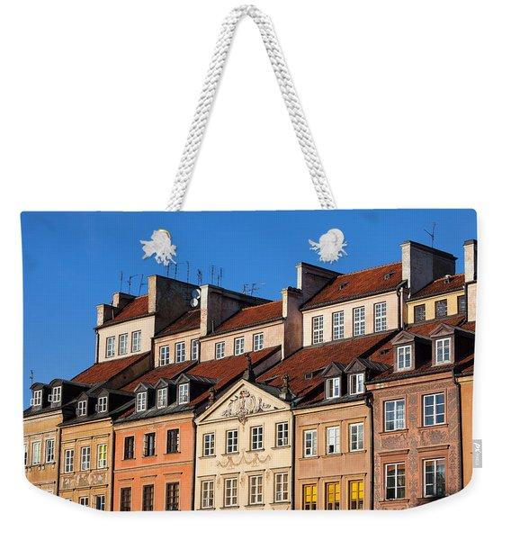 Old Town Tenement Houses In Warsaw Weekender Tote Bag