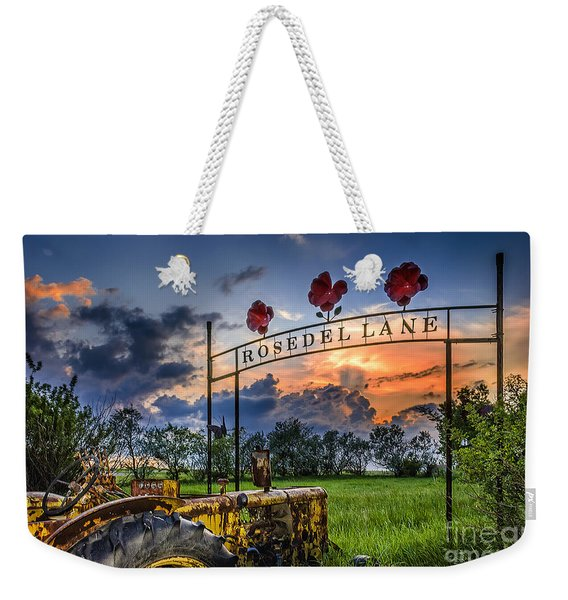 Rust. A New Stage In The Life Of The Old Tractor. Weekender Tote Bag