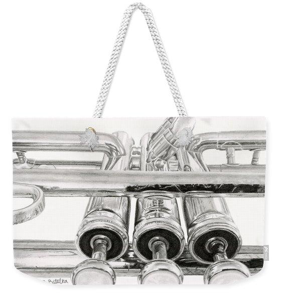 Old Trumpet Valves Weekender Tote Bag