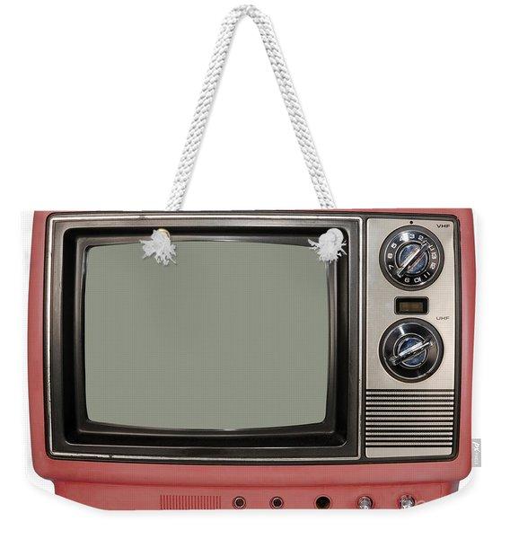Vintage Tv Set Weekender Tote Bag