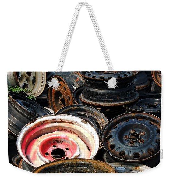 Old Wheels Weekender Tote Bag