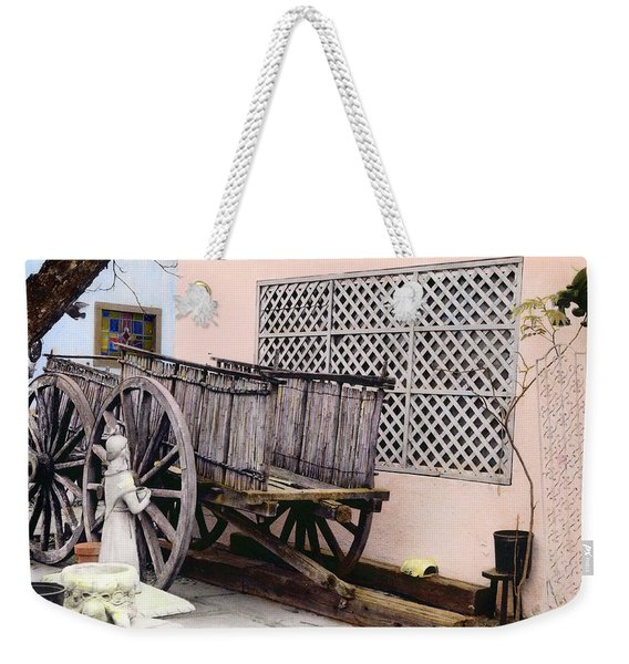 Old Wooden Wagon Weekender Tote Bag