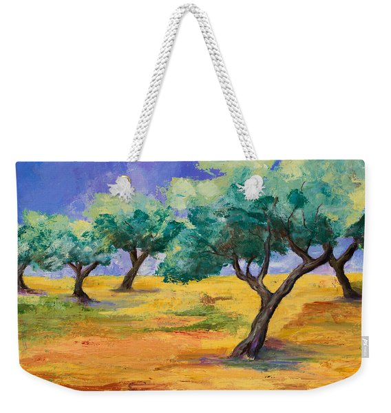Olive Trees Grove Weekender Tote Bag