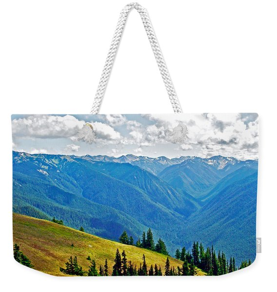 Olympic Mountains From Hurricane Ridge In Olympic National Park-washington Weekender Tote Bag